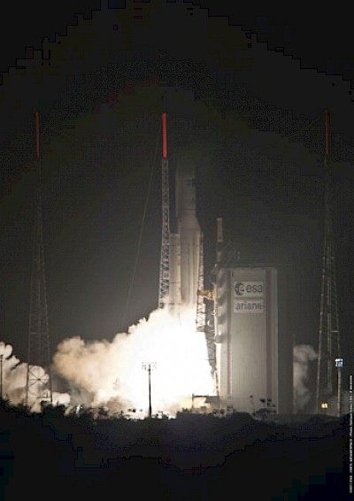Start der Ariane 5 ESmit ATV an Bord
