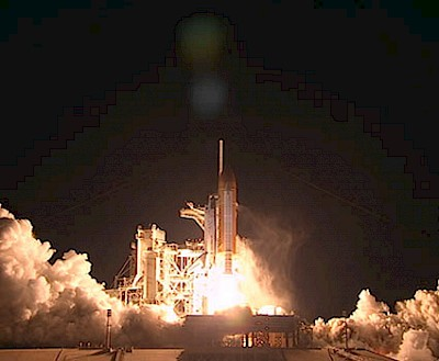 STS-131: Start des Space Shuttle Discovery